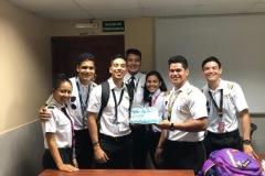 Curso de Piloto privado celebrando cumpleaños