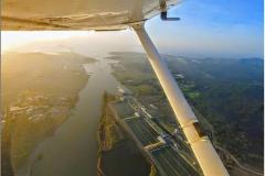 Vista Cuarto Juego de Exclusas Canal de Panamá desde HP-1554 FT