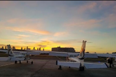 Atardecer desde MAG Flight Training